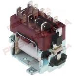 Releu tip E3250, 230V 16A,  contacte 3NO/1NC , contact auxiliar cu buton Ø70mm. Pentru expresoare cafea, generatoare apa calda, marmite, friteuza, masina de spalat vase, BONOMAT, ELECTROLUX, MEIKO