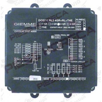 Unitate centrala pentru dozare GIEMME, tip DOS7 f.RL3 4GR+RL+THE (DOS7 RL3 4GR+RL+THE ), alimentare 230V/50/60Hz, CYCOLAC S157-40555