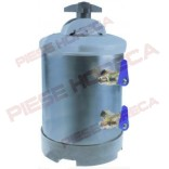 "Dedurizator manual, capacitate 5 litri cu rasina regenerabila (3,5lt), echipat complet, robineti cu conectori de 3/8"", dimensiuni 190x255x(h)300mm. Pentru expresoare de cafea"