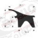 Garnitura usa cuptor 480 x 700 mm, profil 2400 W - Bertos