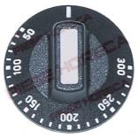 Buton actionare termostat, gradat 50-300◦C, montare pe ax de 6x4,6mm. Pentru cuptoare ELECTROLUX, RATIONAL, PALUX, KING, KREFFT