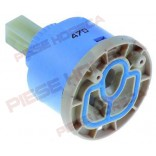 Cartus ceramic pentru baterii de spalator sau  dus, Diametre D1-47mm, D2-25mm, Inaltimi H1-30mm, H2-40,5mm, H3-62,5mm, dimensiuni ax de comanda 10x10mm