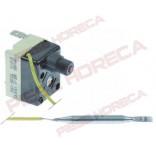 Termostat de siguranta cu resetare manuala, temperatura setata-150◦C,  1contact(pol) 1NC, 16A, dimensiuni senzor 6x65mm