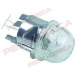 Lampa cuptor cu montare pe Ø35,5mm, alimentare 12V, putere 20W, bec halogen G4, lungime cabluri de alimentare 450mm, rezistenta la maxim  300 °C. Se livreaza completa. Pentru cuptoare pizza ITALFORNI, ELECTROLUX, ZANUSSI