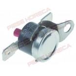 Termostat de siguranta bimetalic, temperatura maxima setata 127oC, 1 contact(1-pol), 16A, pini de conectare electrica 6,3mm. Pentru expresoare LA PAVONI
