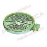 Rezistenta radianta pentru plita vitroceramica EGO, cod producator 10.54111.004, 1054111004, ø 165mm 1200W 230V, 1 circuit