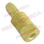 Conector, niplu, cu inel bicon incorporat pentru teava flacara de veghe, pilot, de Ø4mm, filet M10x1. Cod SIT 0958030, 0.958.030