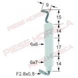 Electrod de aprindere Angelo-Po, diametru 6x7mm, conexiune  F 2.8x0.8mm