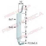Electrod de aprindere Angelo-Po, diametru 1 6x7mm, conexiune  F 2.8x0.8mm, diametru 2 6x6mm