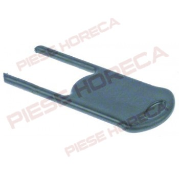 Incuietoare container expresor, lungime 122mm, latime 50mm, grosime 6 mm, material plastic