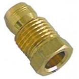 Conector, niplu, cu inel bicon incorporat pentru teava flacara de veghe, pilot, de Ø6mm, filet M10x1. Cod SIT 0958031, 0.958.031