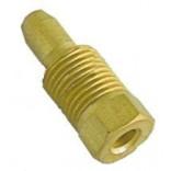 """Conector, niplu, cu inel bicon incorporat pentru teava flacara de veghe, pilot, de Ø4mm, filet ¼"""". Pentru NOVASIT"""