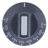 Buton comanda termostat friteuza, gradatie de la 110-190◦C, montare pe ax de 6x4,6mm. Pentru friteuza VALENTINE