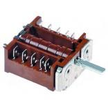 Intrerupator (comutator) rotativ pentru cuptoare Fagor  X163007000. Cu 4 contacte, 16A, dimensiune ax 6x4, 6mm, lungime ax 24mm, cod EGO  4203400009.