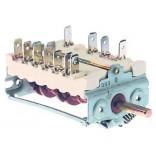 Intrerupator, selector, rotativ cu 4 pozitii, 0-1-2-3, dimensiuni ax Ø6x4,6mm. Pentru cuptoare FOINOX, BERTOS, ELECTROLUX, GIORIK, LAINOX, MARENO, WHIRLPOOL, ZANUSSI, EMMEPI