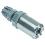 Filtru, greutate,  cu valva non-retur  (de sens) pentru pompe detergent si agent de clatire, conector furtun de 4x6mm, diametrul de 20mm, lungime- 56mm