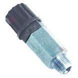 """Valva non-retur pentru pompe peristaltice, conector furtun de 4x6mm, filet de 1/8"""", lungime – 50mm"""