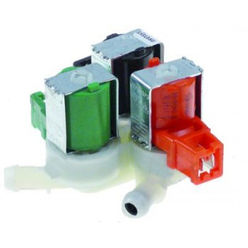 "Electrovalva apa cuptor RATIONAL, producator EATON (INVENSIS), 3 iesiri DE 11,5mm, intrare ¾"", deschidere nominala de 10, reductie de 5l/min (iesireaC)"