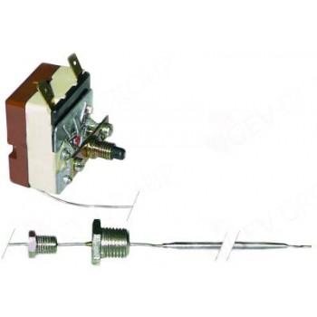 """Termostat de siguranta 155◦C cu resetare, 1 contact (1pol), 16A, dimensiuni senzor 3.03x141mm, lungime capilar 1230mm (izolat 110mm), presetupa cu filet de ¼"""". Pentru ELECTROLUX, JUNO"""