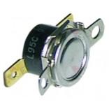 Termostat bimetalic de contact L95C, 60oC, 1pol 16A, diamensiune gauri flansa de montare 23,8mm. Pentru masini de spalat vase si pahare BONNET, COLGED, ELETTROBAR, EUROTEC, LUXIA, RANCILIO, SILANOS