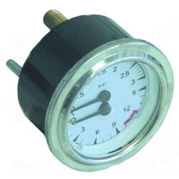 Manometru pentru expresoare, cu scala dubla, presiuni masurabile 0-3/0-15bar, diametrul de montare 63mm. Pentru  San Marco, GRIMAC