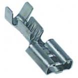 Papuci mama 6,3mm, pentru cablu cu sectiunea de 1-2,5mm, temperatura maxima de lucru constructive – 400oC, confectionati din otel inox