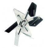 Turbina ventilator cuptor, diametrul de 150mm, fixare pe ax de 6x5mm. Pentru motor ventilator HANNING tip EMB-30-028