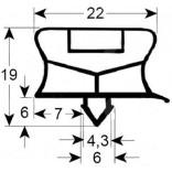 Garnitura usa, frigider, congelator FRIULINOX, POLARIS, profil 9794, lungime- 1820mm, latime 755mm. Lungimea si latimea garniturii sunt masurate la mijlocul canalului de fixare