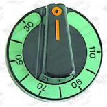 Buton comanda , cu indicator de temperatura de la 30 la 110 —¦C, diametru de 60mm, montare pe ax termostat de 6x4.6mm
