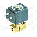 Electrovalva 2cai cu conexiuni de 1/8  ť, DN 3mm, temperaturi de lucru -20oC +130oC, alimentare 230V, bobina tip DZ06S6, alimentare cu priza tip DIN
