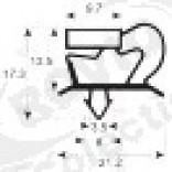 Garnitura frigorifica 610 x 447 mm intre santuri, profil 9048