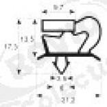 Garnitura frigorifica 704 x 655 mm, profil 9048