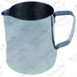 Cana inox pentru lapte, milk jug, capacitate 0,9l, diametru 105mm, inaltime 124mm, pentru cappuccino, fara capac