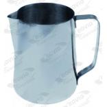 Cana inox pentru lapte, milk jug,  capacitate1,5l, diametru 122mm, inaltime 106mm, pentru cappuccino, fara capac