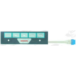Membrana tastatura pentru expresor FAEMA, E98 PRESIDENT, 6 digiti, lungime 176mm, latime 49mm