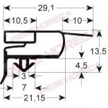 Garnitura frigider, congelator, ILSA, WHIRLPOOL, profil 9773, dimensiuni exterioare: lungime-1539, latime-659mm, dimensiuni interioare( la varful sageti de fixare): lungime- 1526mm, latime- 646mm
