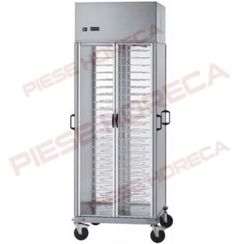 Carucior refrigerat ventilat pentru transport farfurii